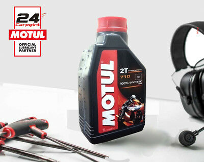 104034 Engine Oil Motul 710 100% Synthetic Fuel 2stroke Motorcycle Scooter 1 L