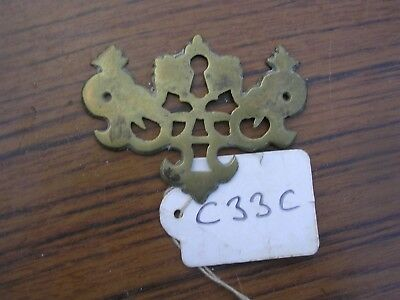 Antique Brass Escutcheon (C33C)