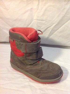 Girls Timberland Brown&Pink Suede Waterproof Boots Size 12