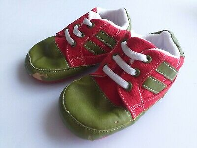 Brand New John Lewis age 12-18 months green & red pram shoes.  FAST POSTAGE