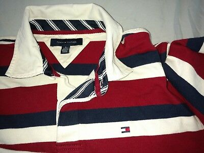 1f74b6be Vintage 90s Tommy Hilfiger Rugby Shirt size XL Excellent Condition Hip Hop