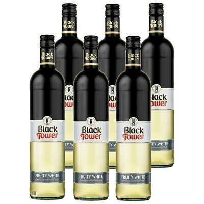6 Black Tower Fruity White fruchtig lieblicher Weißwein 9,5% vol 6 x 75cl