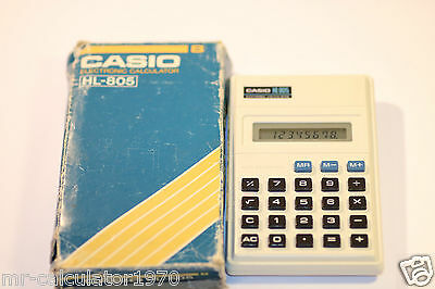 Vintage Casio Hl-805 Electronic Calculator 1980'S