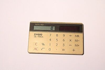 Vintage Casio Sl-760 A Film Card Calculator Solar Powered