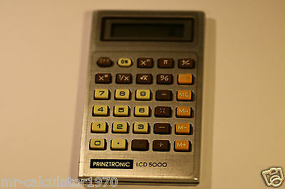 Vintage Prinztronic Lcd 5000 Calculator Made In Taiwan 1980'S