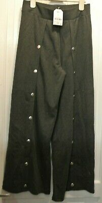 New Next Girls Jersey Culottes/Trouser Grey Popper Detail Size Age 14 years
