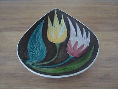Authentic Mari Simmulson Uppsala Ekeby SwedenTulip Bowl Stamp Mid Century