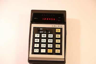 Rare Vintage Red Led Ebl 612 Calculator 1970S Made In Hong Kong
