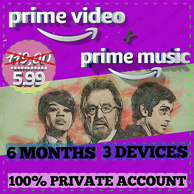 6 months Amazon Prime Video + Office 365 |Fast Delivery|NOT SHARED|