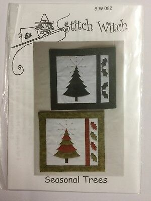 Quilting Pattern Stitch Witch Holly Tree Skirt 056