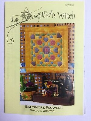 Quilting Pattern Spring Cards /& Pictures Shadow Quilted Stitch Witch 051