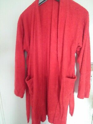 Bath Robe red terry toweling for  about 10 yrs old Vintage Childs