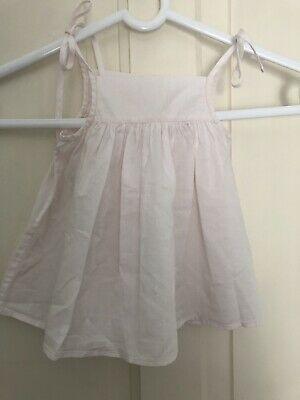 7e96c135b06 Authentic Bonpoint Summer Baby Girl Dress Top Romantic Pale Pink 100% Cotton