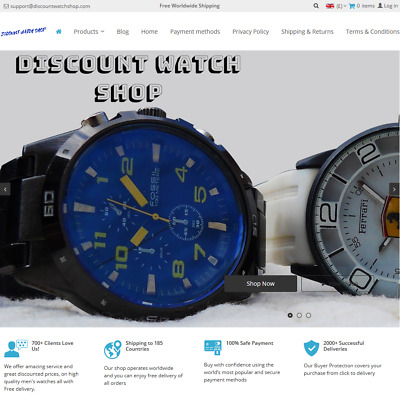 Luxury Mens Discount Watch Shop Ecommerce Online Dropshipping Website Business