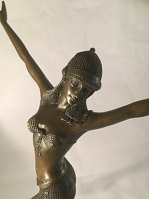 Bronze Art Deco Style Figurine Of Egyptian Dancer