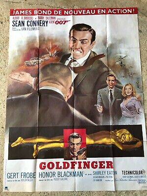 JAMES BOND - GOLDFINGER - 2 affiches originales - 120x160 -original posters