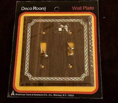 Vintage American Tack & Hardware Maple Wood Double Toggle Plate Cover/ New