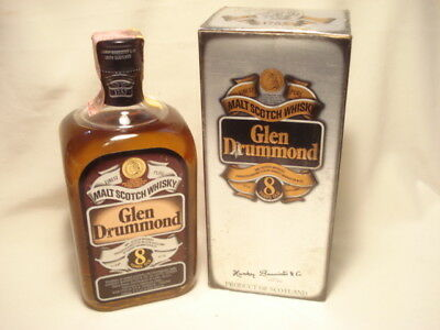 Whisky 8 YO GLEN DRUMMOND Pure Malt  cl. 75  gr.43 con Box LEITH  Scotland