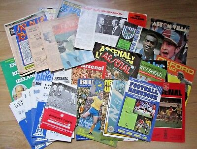 Vintage Mixed Lot Of Football Match Programs And Other Football Memorabilia