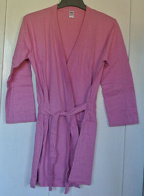 New girls  dressing gown pink size 9-10  years