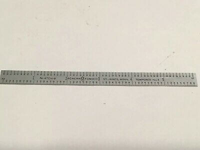 "Scherr & Tumico USA 6""  ruler 64th , 32nds 10ths 50ths  47CN-6"