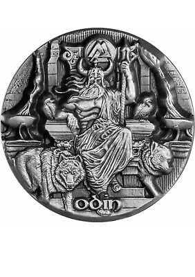 2016 3 oz Odin Silver Coin | Legends of Asgard | Max Relief | Box And COA