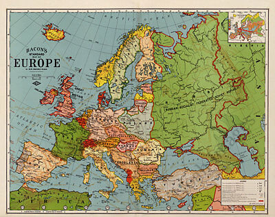 Map of Europe c1920s 30x24