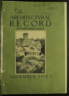 The Architectural Record antique vintage old Architecture Journal November 1925