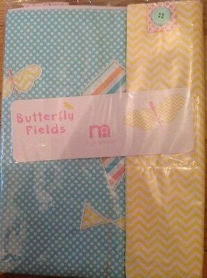 Mothercare Butterfly Fields Pack Of 2 Cot Pockets...Bnip