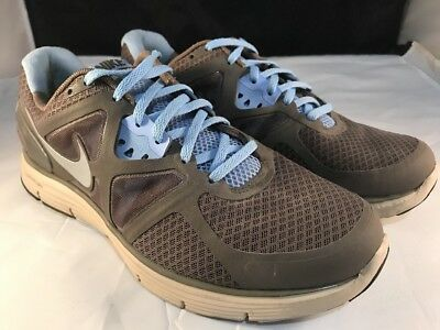 promo code 36234 73420 Nike Running Shoes Lunarglide +3 Womens Sz.10 Smoke Silver Blue 454315