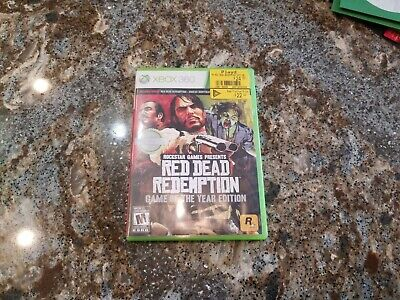 Red Dead Redemption Game of the Year Edition -- XBOX 360 -- CONDITION B+