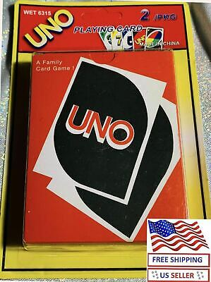 NEW UNO Card Game, Age 7+ Fast Shipping 2/PKG Original size US seller