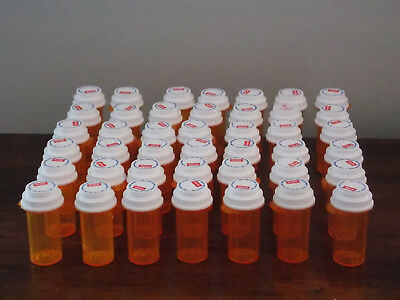 42 Empty RX Pill Prescription Bottles Crafts SAFETY LIDS