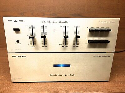 SAE Preamplifier and Power Amplifier