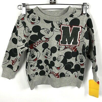 NWT Long-Sleeved Disney Mickey Mouse Sweat-Shirt Boys Size 18 Months New!