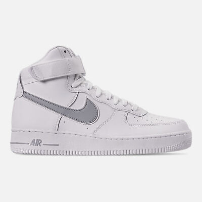 online store ecb1c ab5a8 Authentique Nike Air Force 1 Haut  07 3 Blanc Loup Gris At4141 100 Homme  Taille