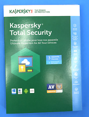 NEW!!! KASPERSKY TOTAL Security  3 Device Ultimate For All Devices #7812