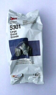 3M Dual Cartridge Respirator 5301, Organic Vapor Assembly, LARGE, 051138215774