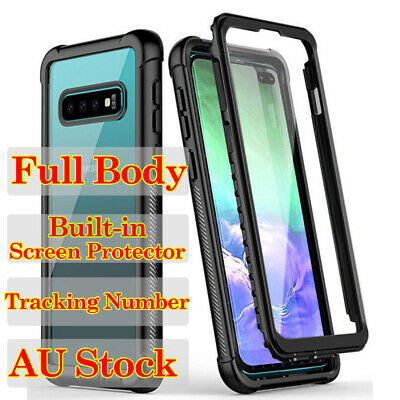 For Samsung Galaxy S10 Plus Slim Full Body Built-in Screen Protector Case Cover