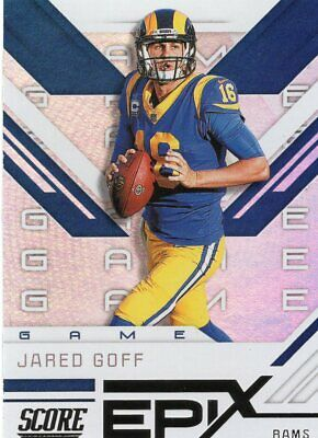"Jared Goff, Los Angeles Rams, 2019 Score ""EPIX - Game"" SP"