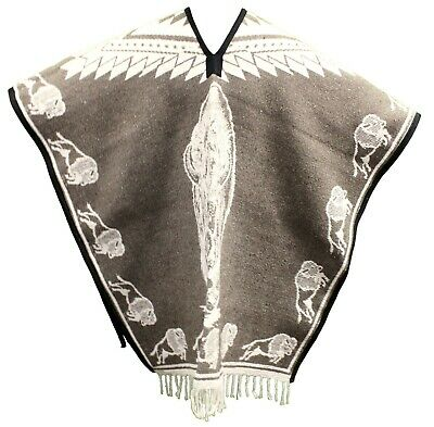 HEAVY BLANKET Mexican PONCHO - BUFFALO TAN - ONE SIZE FITS ALL Blanket Gaban