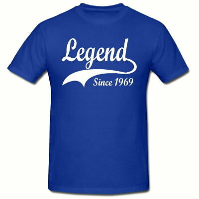 Legend Since any year T-Shirt Funny  Novelty Men/'s Tee Shirt,SM-2XL,any date