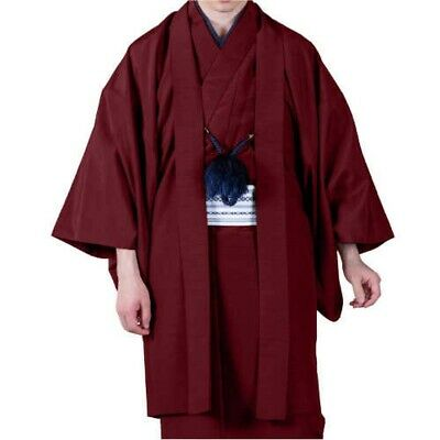 Japanese Traditional Mens HAORI Jacket Coat Only Red From Japan with Tracking