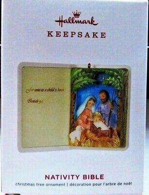 2019 Hallmark Keepsake Ornament Nativity Bible NIB!