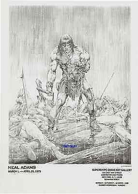 1975 Neal Adams Art Conan The Barbarian Original Vintage Print Marvel Comic Hero