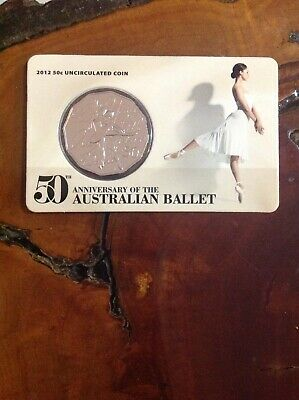2012 50th Anniversary of Australian Ballet 50c Coin Royal Australian Mint
