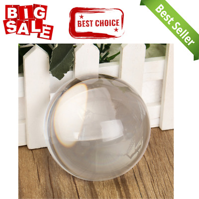 80mm Vintage Half Crystal Sphere Ball Clear Photography Glass Crystal Decorative