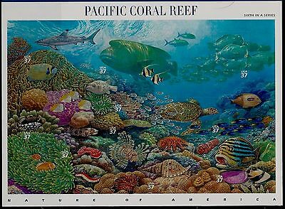 2004 PACIFIC CORAL REEF Nature of America Series 6, MNH Sheet 10 37¢ Stamps 3831