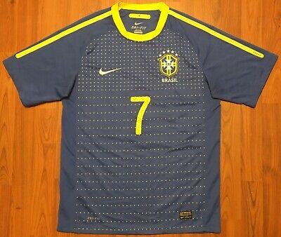 fc78642f Vintage Authentic Nike Brazil #7 Away Shirt Soccer Football Jersey Sz Small