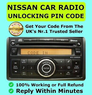 Nissan Radio Code Clarion Unlock Micra Note Qashqai Juke Connect | Fast Service